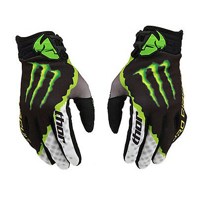 Mens Thor Silicone Full Finger Gloves Motorcycle Motocross Cycling Racing MTB