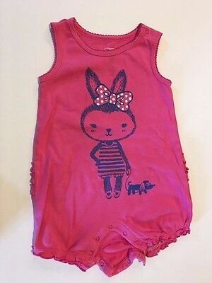 H-GIRLS OLD NAVY PINK ROMPER BUNNY Size 18- 24 MONTHS