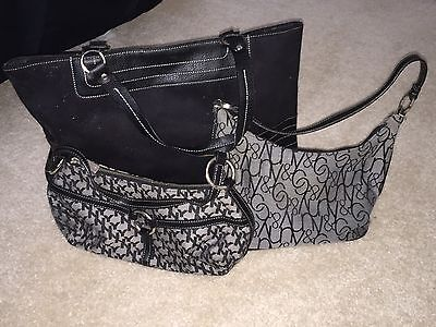 Lot Of Women's Black Bags Handbags NYCO AND VICTORIA SECRET