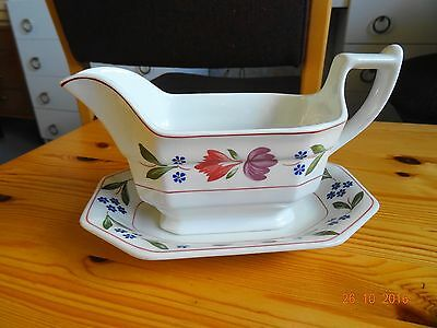 Adams Old Colonial Gravy Boat And Under Plate