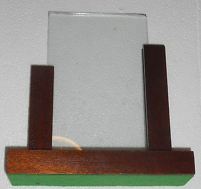 Genuine Art Deco Oak Photo Frame Large 6.5 X7 Inches Looks To Be Hand Made