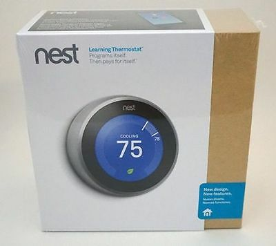 *NEW* Nest 3rd Generation Learning Thermostat T3007ES