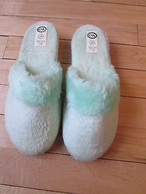 Vintage 1970's Soft Mules Slippers From C+A  Size 3 To 4 More Like Size 3