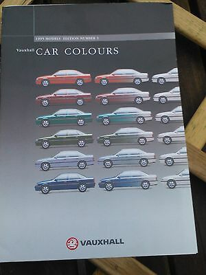Vauxhall Range Car Colours Brochure - 1995 Edition 3