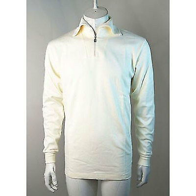 Maser Jet Zip Roll Neck Mid Layer Thermal Top - White / UK 14