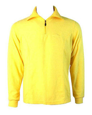 Maser Cotton Roll Neck Mid Layer Thermal Top - Yellow / UK 10