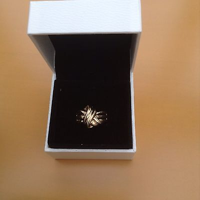 9ct Yellow Gold Knot Ring Size P