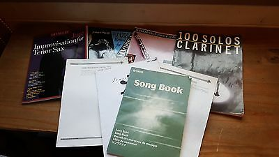 Collection of old music books for Saxophone & Clarinet