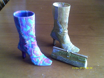 2 JUST THE RIGHT SHOE- COLLECTIBLE SHOES BY RAINE Perfectly Python/Purse