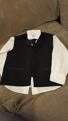 Boys waistcoat shirt and tie age 5 years