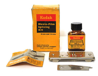 Vintage Kodak Movie-Film Splicing Kit for 8mm & 16mm  Made in England