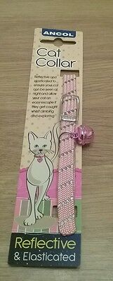 Pink Ancol reflective cat collar