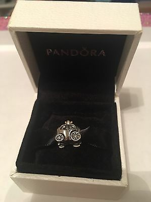 Pandora Silver, 14ct Gold and Pearl Carriage Charm Boxed RRP £65