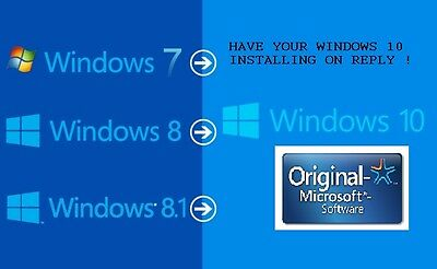 windows 10 upgrade or new install microsoft certified original licence BY REPLY