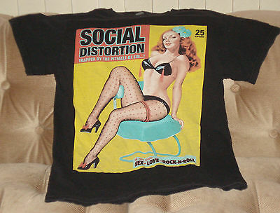 Social Distortion Vintage Concert T-Shirt 2001 Size S Awesome Rare Original