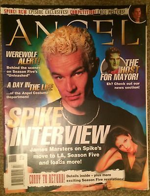 BTVS Angel Official UK Magazine #7 2004 James Marsters Poster & Interview Buffy