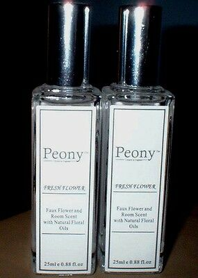 FAUX FLOWER & ROOM SCENTS X  2  BY PEONY FAUX FLOWER COMPANY 25ml EACH