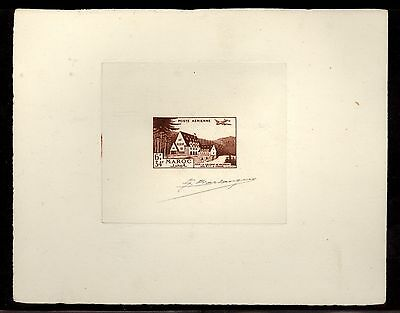 Maroc French Morocco CB29 Signed Artist Die color proof  SCARCE