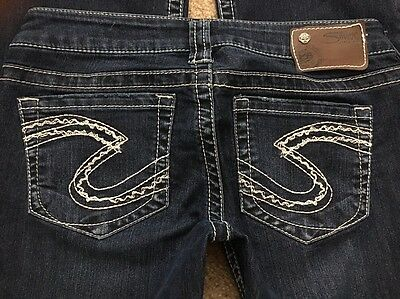 """SILVER Jeans Women's TUESDAY BOOTCUT Stretch Low Rise Zip Fly sz 27 29"""" W"""