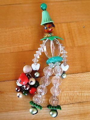 Articulated Dangling Person Beaded Bakelite/Plastic/Celluloid Hanging Vintage