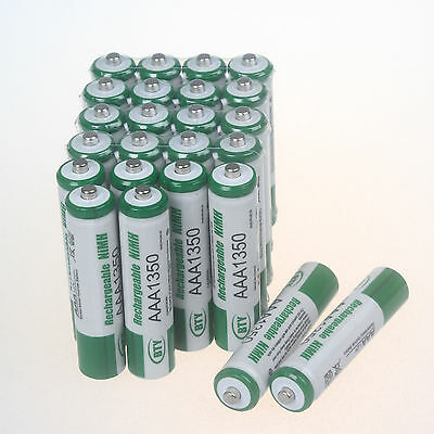 24pcs Green BTY Battery 1.2V AAA 3A 1350mAh Ni-MH rechargeable battery