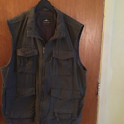 Pacific Trail  Mens Travel Outdoor Vest Multi Pockets Size XL Fishing Hunting