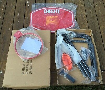 Cool Cheez-It Promotional Stand-up Basketball Hoop, Rim & Ball, Brand New in Box