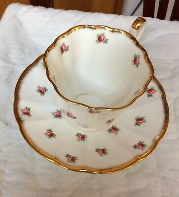 Adderley bone china cup and saucer, roses