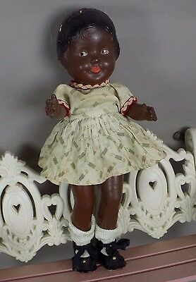 Antique Composition African American Little Girl Doll Patsy Ann Clone Body