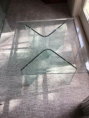 Coffee Table And Side Table - Glass