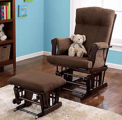 Nursery Rocker and Glider Rocking Chair with Ottoman Baby Furniture