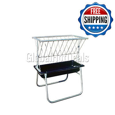 Behlen Country Complete Galvanized Heavy Duty 5'L Horse Feed Bunk & Hay Rack