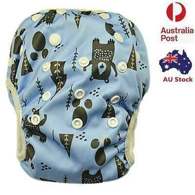 New Adjustable Print Swim Nappy Baby Toddler Cover Diaper Pants Nappies Swimmers