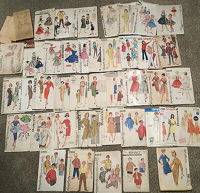 Lot 40 Vintage 30s - 60s Sewing Patterns Vogue McCall Advance Butterick Antique