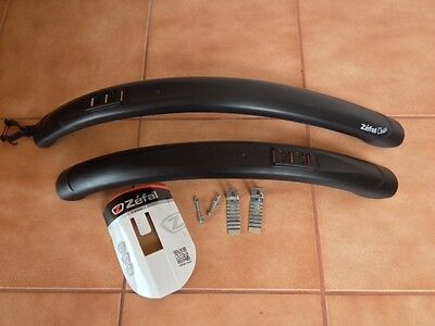 Zefal Classic 24/26 Mountain Bike Bicycle Mudguard Set Black Front And Rear