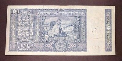 India - 100 Rs Gandhi Issue - Signed L.K.Jha - Fine Condn - Rare