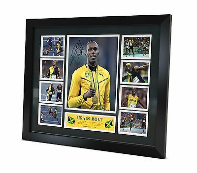 Usain Bolt Signed photo Framed Memorabilia Limited Edition of 250 + Certificate