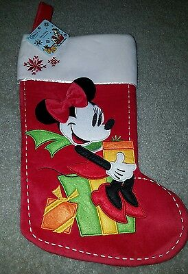 New Disney Store MINNIE MOUSE Christmas Stocking