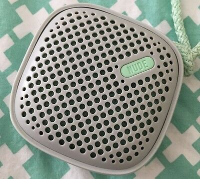 Nude Audio Move Small Wired Portable Speaker - Grey/Mint - good condition