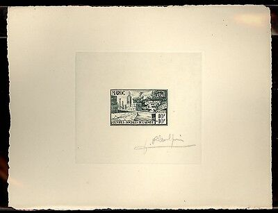 Maroc French Morocco B48 Signed Artist Die color proof  SCARCE