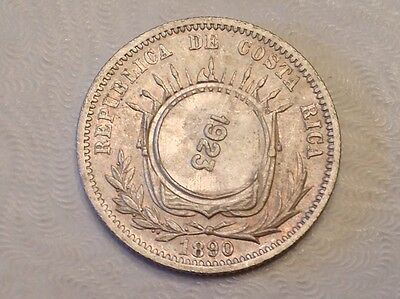 - Costa Rica 1923 / 1890 50 Centimos Choice Uncirculated Unc