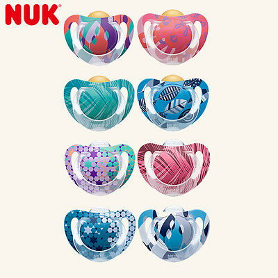 NUK Genius Pacifier 0-6-18-36 Months SIZE 1 2 3 Babies Soother Natural Latex NEW