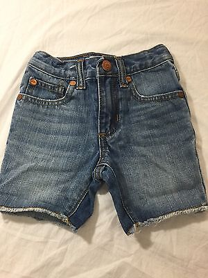 AUTHENTIC Peek Dungarees  Kids'  Boys' Girl's  Jean Shorts Size L (12-18 MONTHS)
