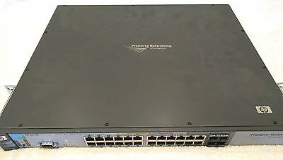 HP 24 Port POE switch 3500yl-24 J8692A with HP SFP+/CX4 10GbE module J9312A