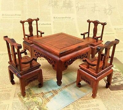 A set of beautiful.China annatto furniture chair and table decoration collection