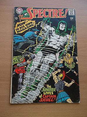 """Dc: The Spectre #1, """"the Sinister Lives Of Captain Skull!"""", 1967, Gd (2.0)!!!"""