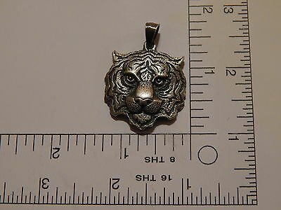 LARGE TIGER HEAD   Silver 925 JEWELRY Charm Pendant