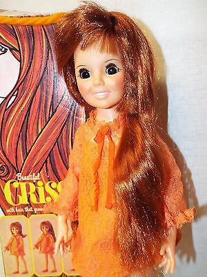 Beautiful Vintage 1969 Ideal Crissy Hair Grows Doll With Box & Papers -Free Ship