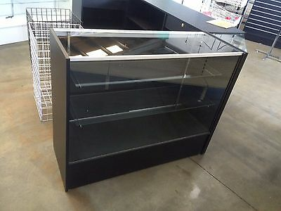 Black 1500mm glass display retail shop counter shop fittings shelf shelves NEW!!