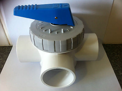 Full Flow 3 Way 50mm Valve Pool Systems Filtration Systems Spa
